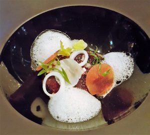 Variations of onions, port glazed foie gras, parmesan1